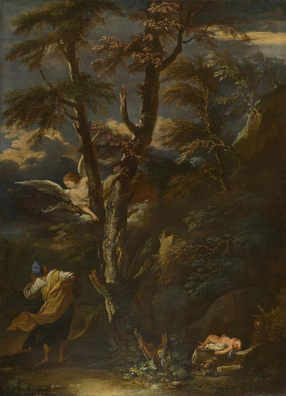 After Salvator Rosa - An Angel appears to Hagar and Ishmael in the Desert