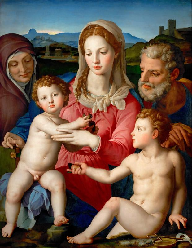 Agnolo Bronzino (1503-1572) -- Holy Family with Saints Anne and John the Baptist