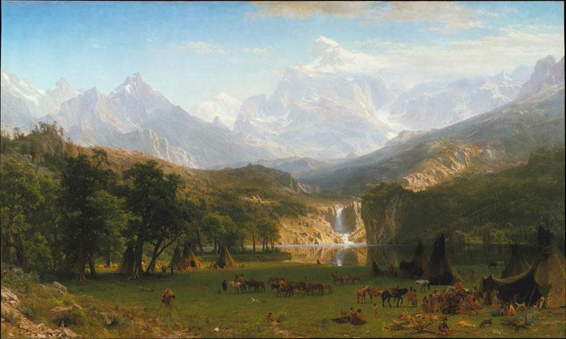 Albert Bierstadt--The Rocky Mountains, Lander Peak