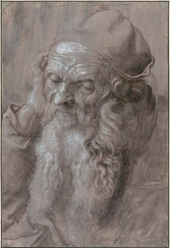 Albrecht Durer (1471-1528)-Head of an Old Man, 1521