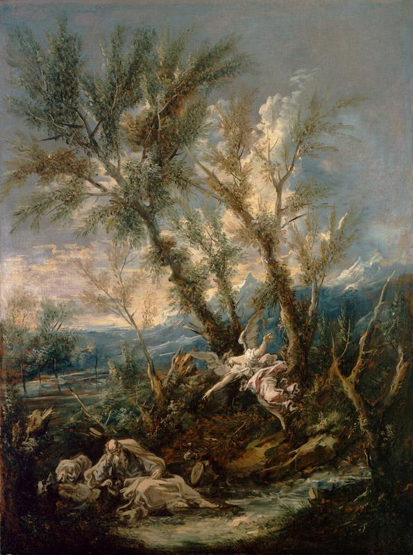Alessandro Magnasco  - Elijah Visited by an Angel, ca. 1730