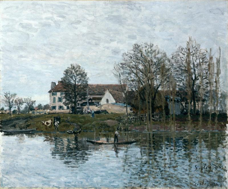 Alfred Sisley - The Seine at Port-Marly