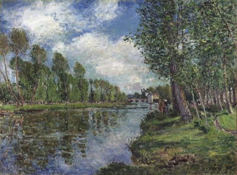 Alfred Sisley, French, 1839-1899 -- Banks of the Loing River