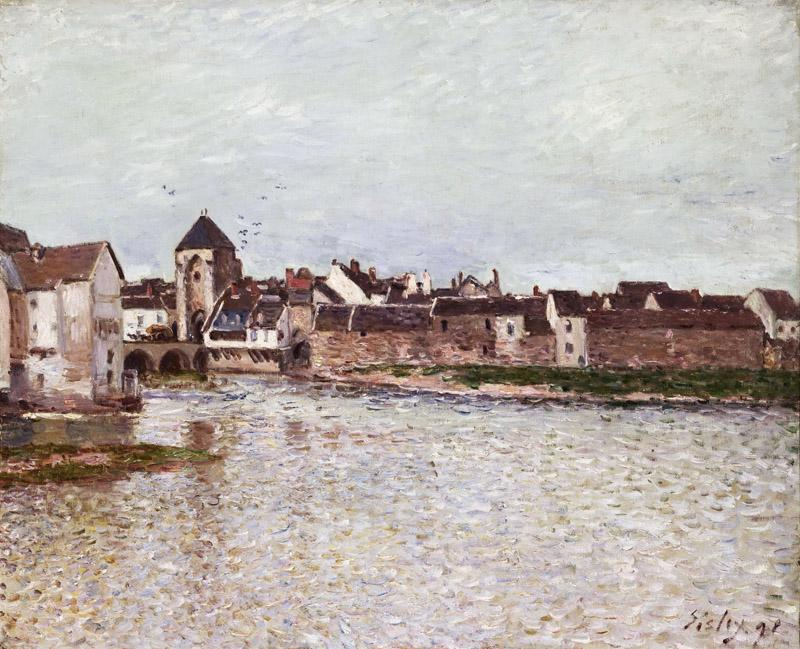 Alfred Sisley, French, 1839-1899 -- Bridge at Moret-sur-Loing