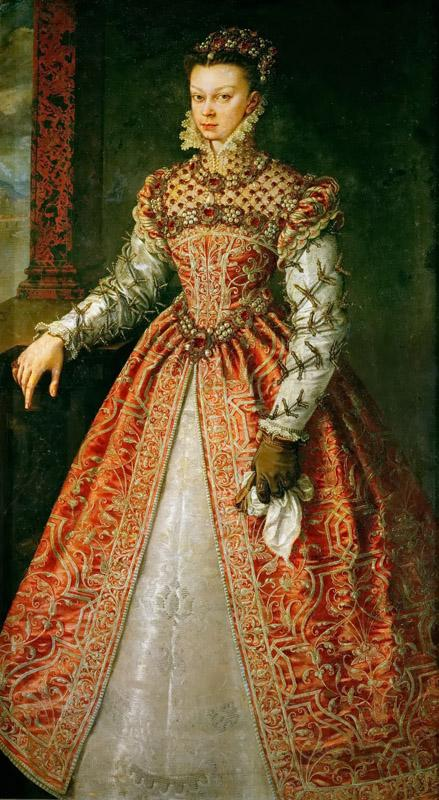 Alonso Sanchez Coello (c. 1531-1588) -- Isabella of Valois