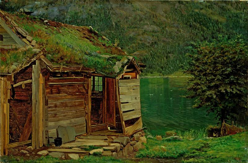 Amaldus Nielsen - Farmhouse at Balestrand