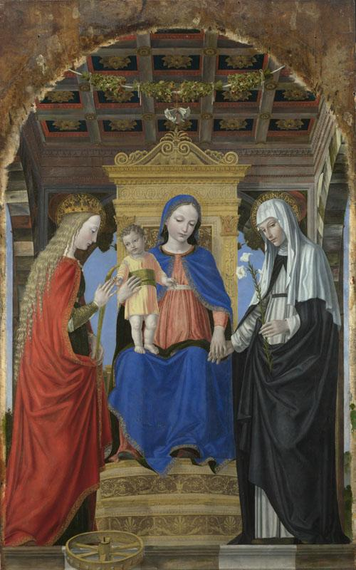 Ambrogio Bergognone - The Virgin and Child with Saints