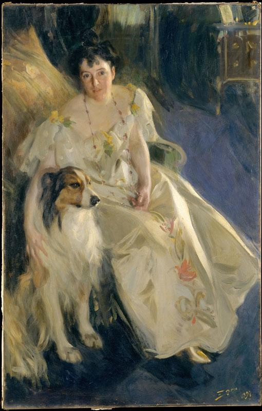 Anders Zorn--Mrs. Walter Rathbone Bacon (Virginia Purdy, died 1919)