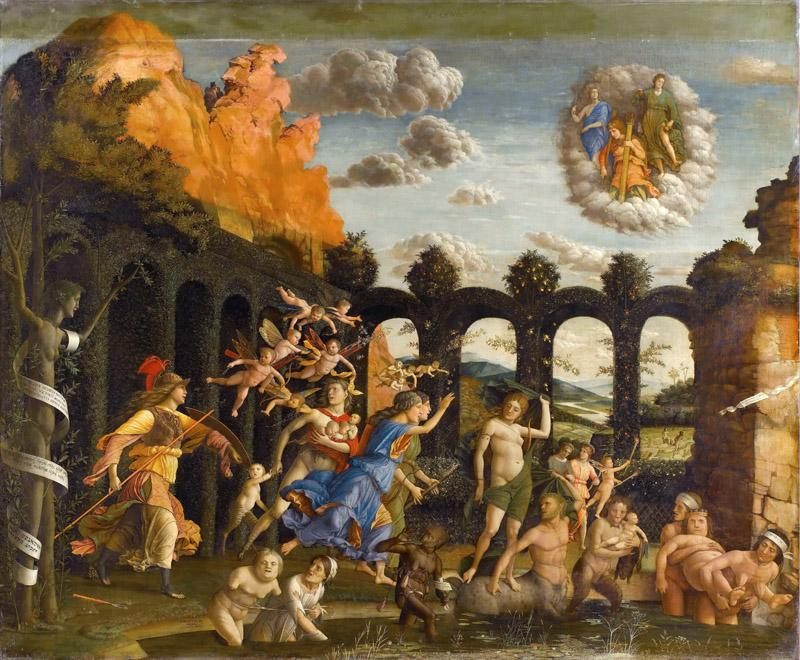 Andrea Mantegna -- Minerva hunting the Vices in the gardens of Virture