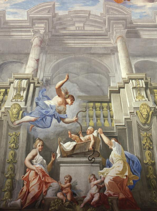Andrea Pozzo - Ceiling fresco in the Hercules Hall of the Liechtenstein summer palace, 1704-1708