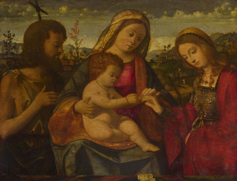 Andrea Previtali - The Virgin and Child with Saints