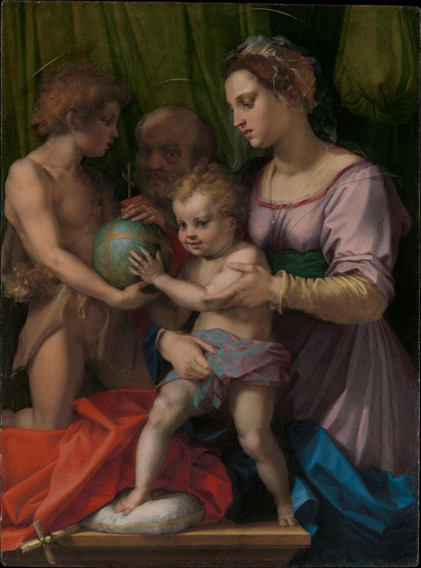 Andrea del Sarto--The Holy Family with the Young Saint John the Baptist