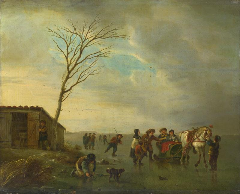 Andries Vermeulen - A Scene on the Ice