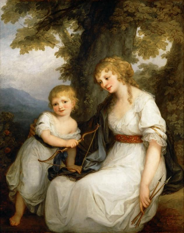Angelica Kauffmann (1741-1807) -- Baroness Juliana von Kredener (1764-1824) and Her Son