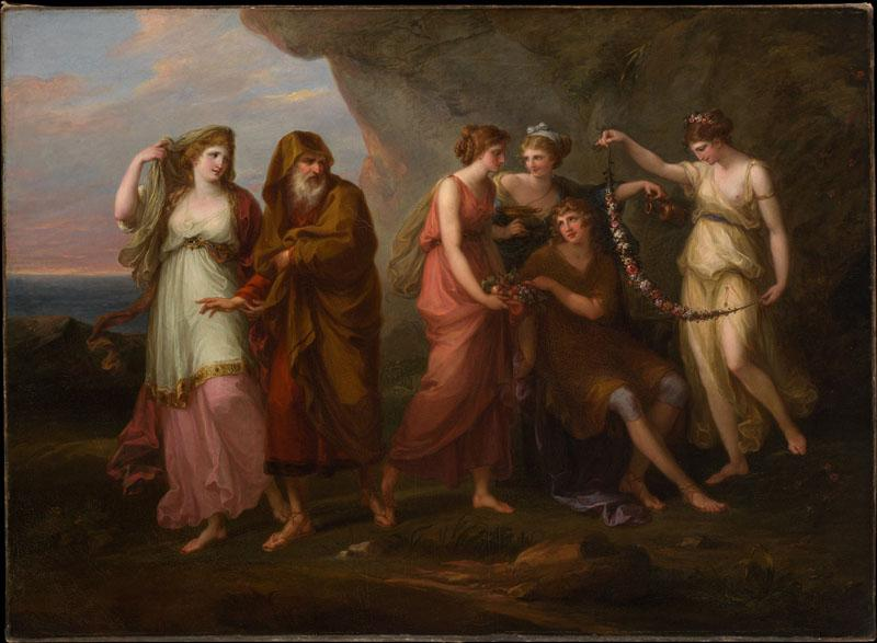 Angelica Kauffmann--Telemachus and the Nymphs of Calypso