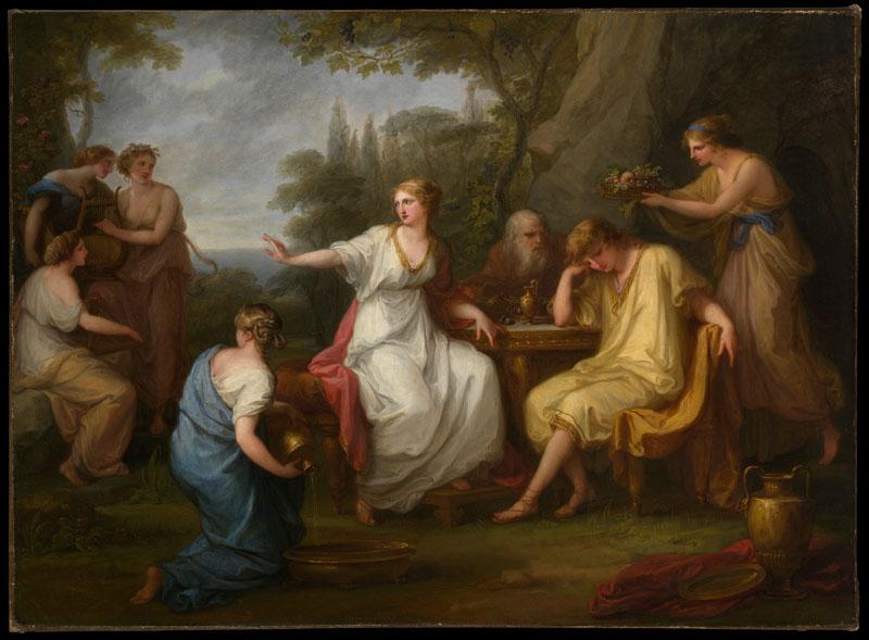 Angelica Kauffmann--The Sorrow of Telemachus