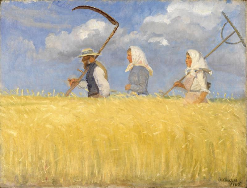 Anna Ancher - Harvesters