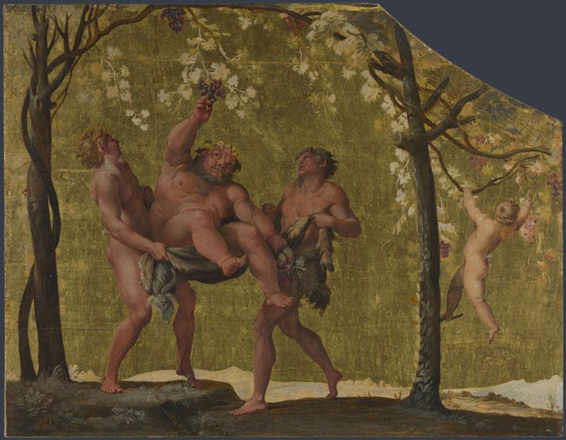 Annibale Carracci - Silenus gathering Grapes