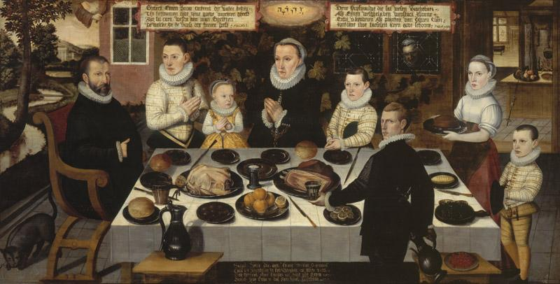 Anonieme Meester - A protestant Family during dinner