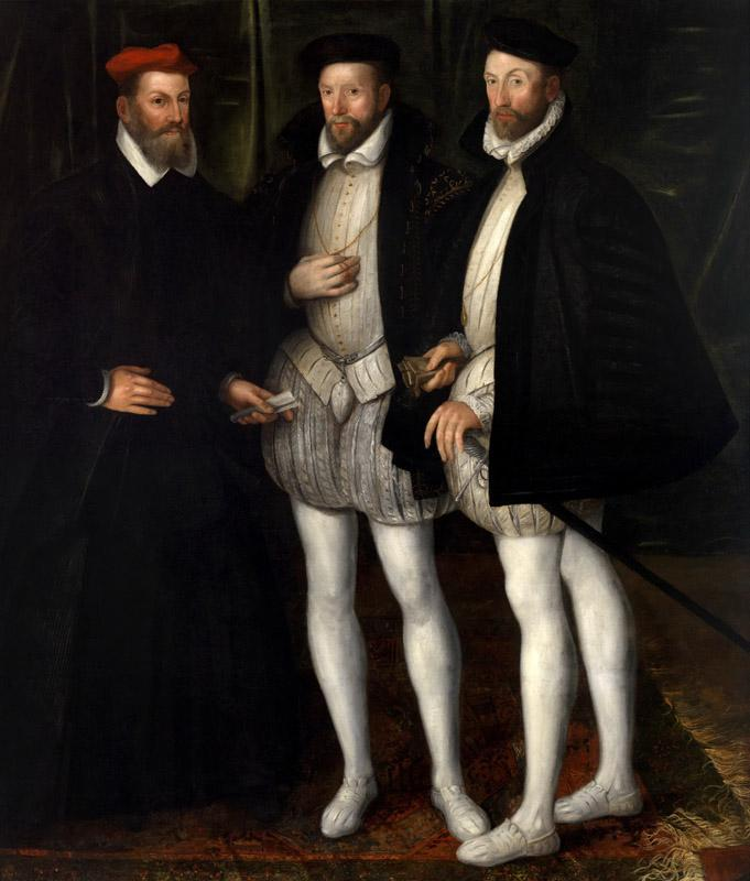 Anonymous - Portrait of the Brothers Gaspard , Odet  and Francois