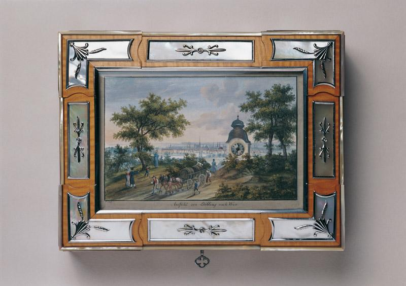 Anonymous artist, Vienna - Travel Necessaire with a View of Vienna from the Suburb of Dobling, c.
