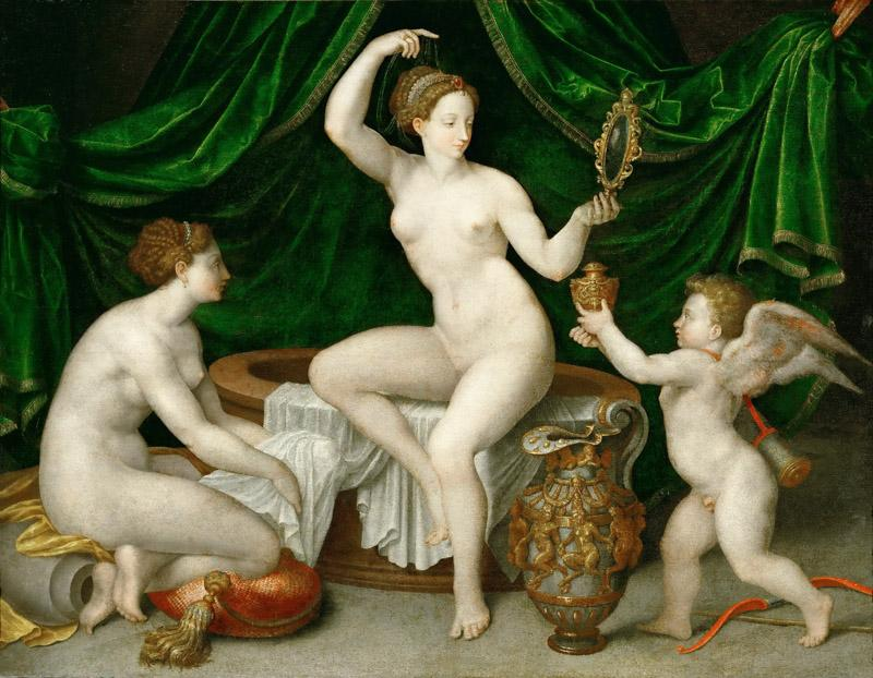 Anonymous, School of Fontainebleau -- Venus at Her Toilette