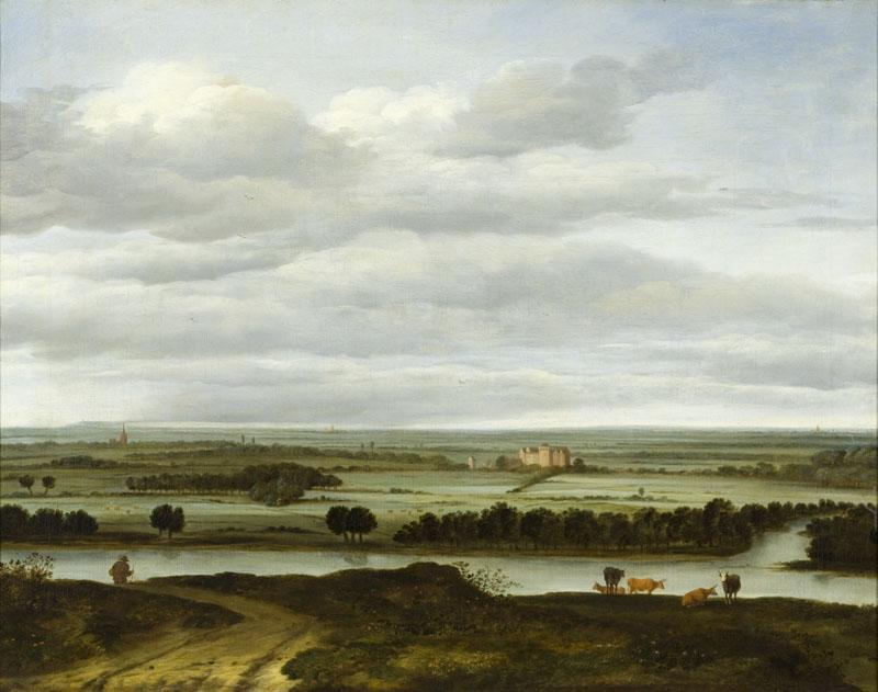 Anthonie Van Borssom - Panoramic Landscape near Rhenen with the Huis ter Lede