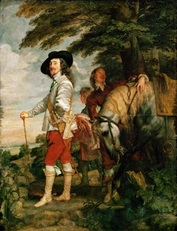 Anthony van Dyck -- Charles I (1600-1649) in the Hunting Field