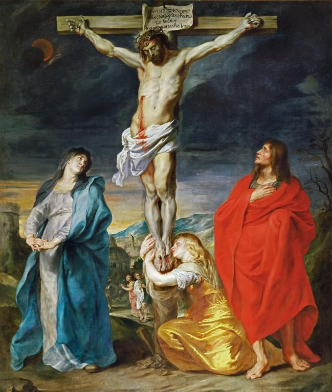Anthony van Dyck -- Christ Crucified with the Virgin