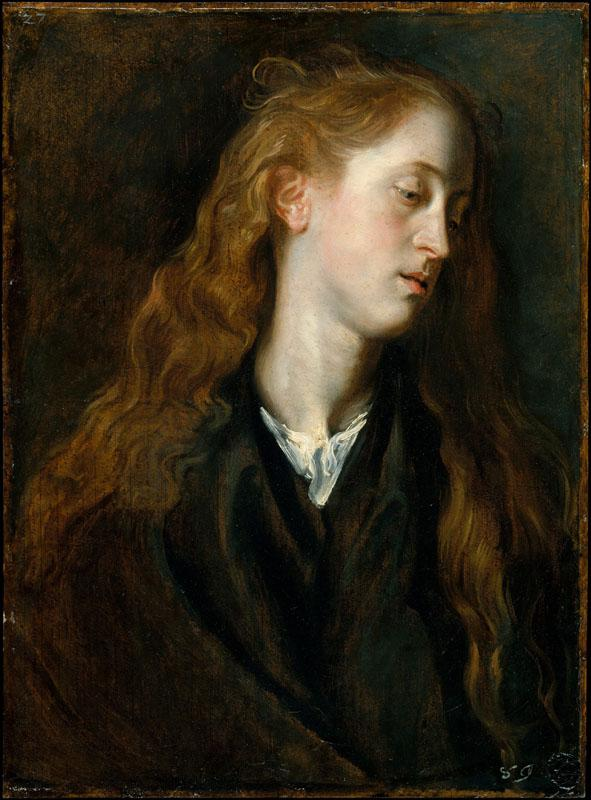 Anthony van Dyck--Study Head of a Young Woman