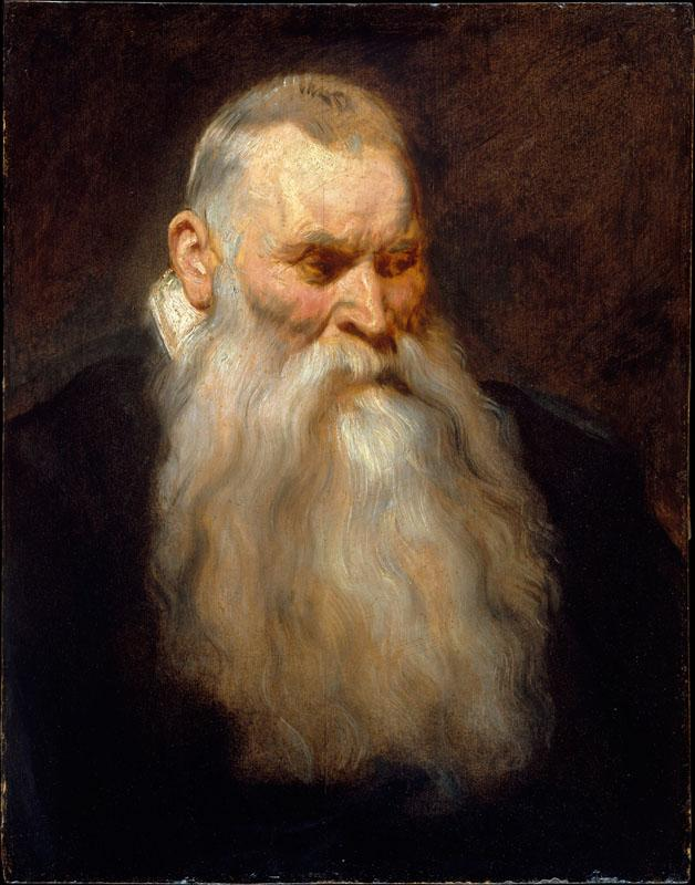 Anthony van Dyck--Study Head of an Old Man with a White Beard