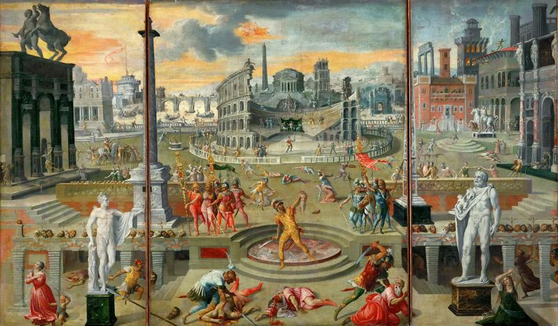 Antoine Caron (1521-1599) -- Massacre of the Triumvirate