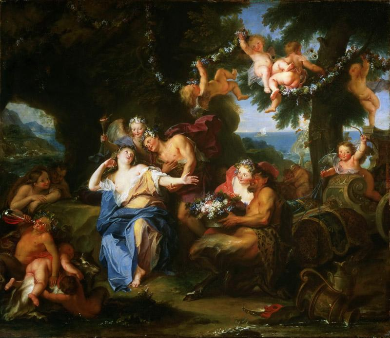 Antoine Coypel, French, 1661-1722 -- Bacchus and Ariadne on the Isle of Naxos