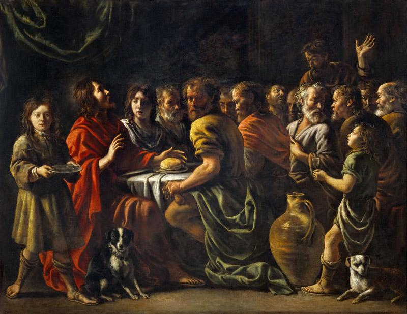 Antoine Le Nain (1588-1648), Louis Le Nain (1593-1648) or Mathieu Le Nain(1607-1677)-Last Supper