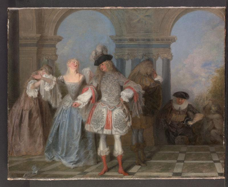 Antoine Watteau--The French Comedians