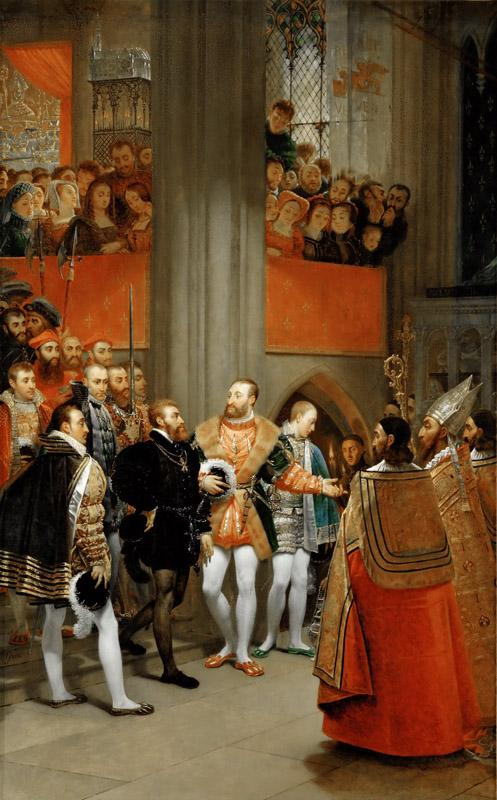 Antoine-Jean Gros (1771-1835) -- Emperor Charles V Received by Francis I at the Abbey of Saint Denis