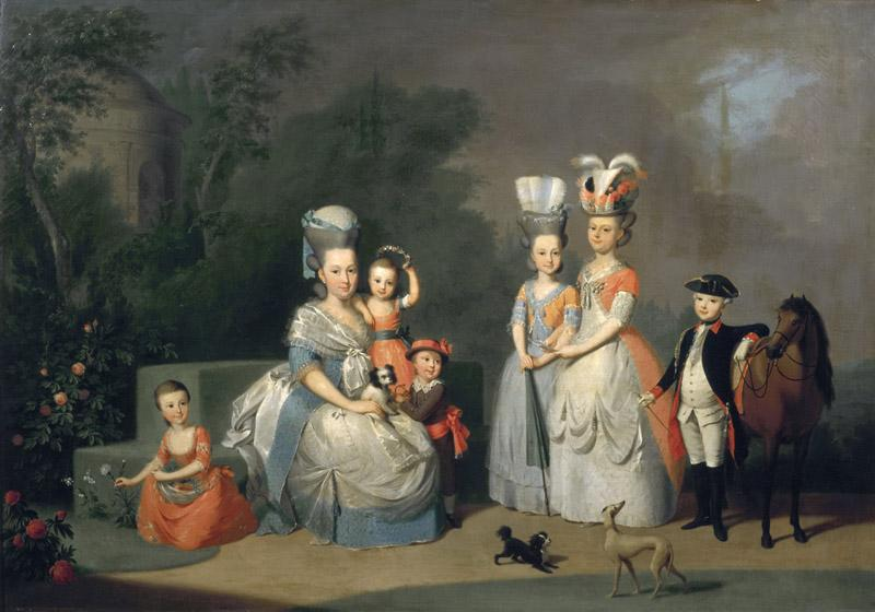 Anton Wilhelm Tischbein - Portrait of Carolina Wilhelmina of Orange and her Children