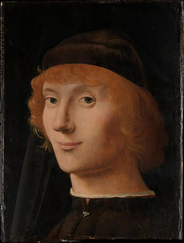Antonello da Messina--Portrait of a Young Man