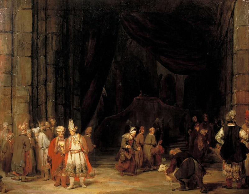 Arent de Gelder - The Forecourt of a Temple