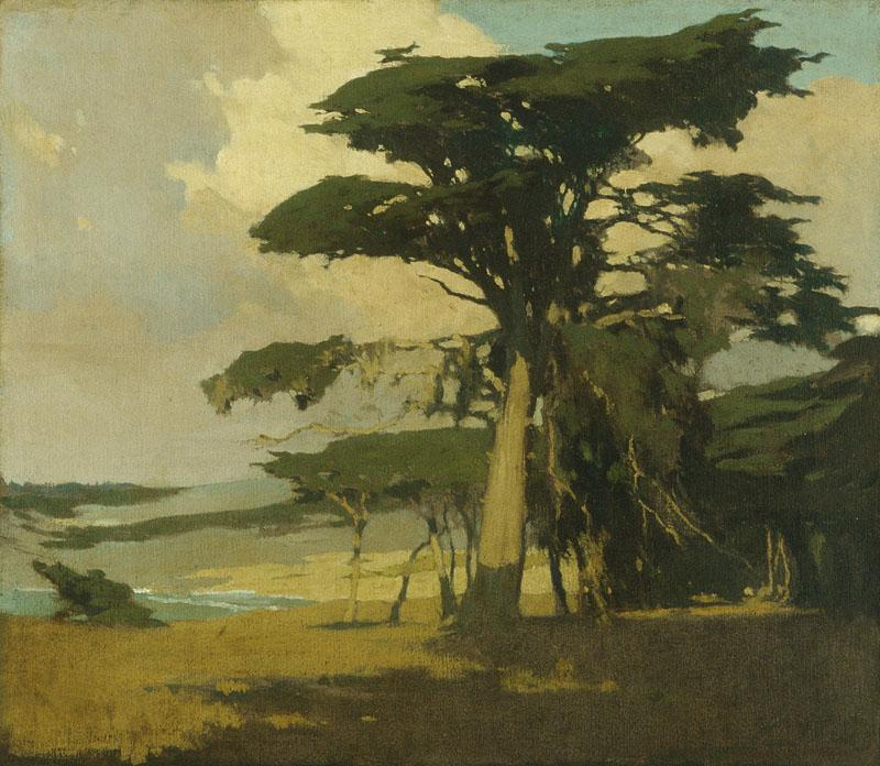 Arthur Frank Mathews--Afternoon among the Cypress