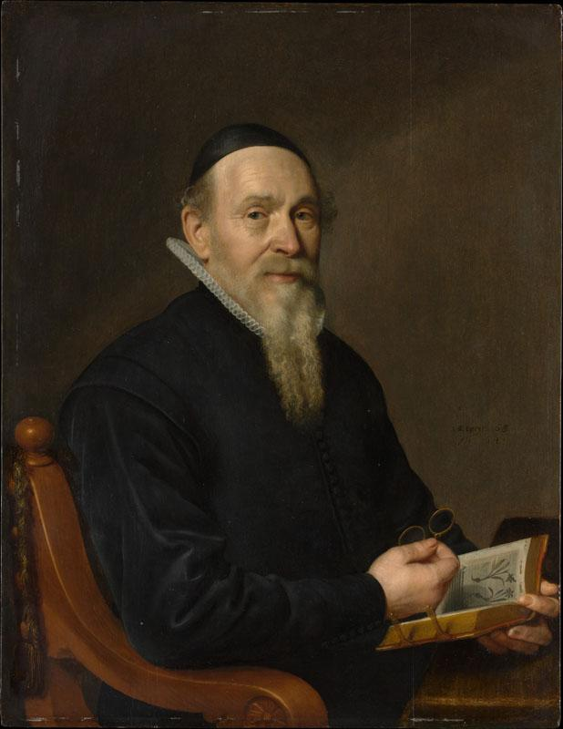 Attributed to David Bailly--Portrait of a Man, Possibly a Botanist