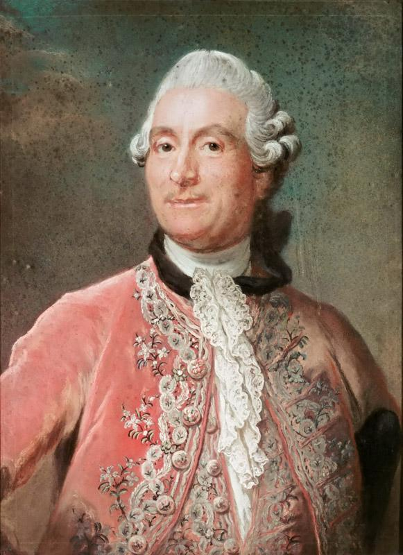 Attributed to Gustaf Lundberg -- Portrait of Monsieur de Vergennes