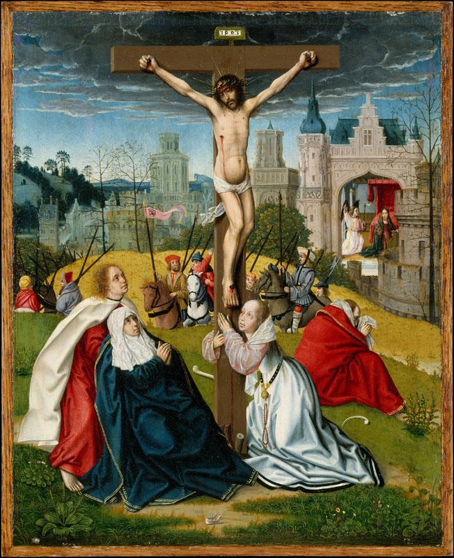 Attributed to Jan Provost--The Crucifixion