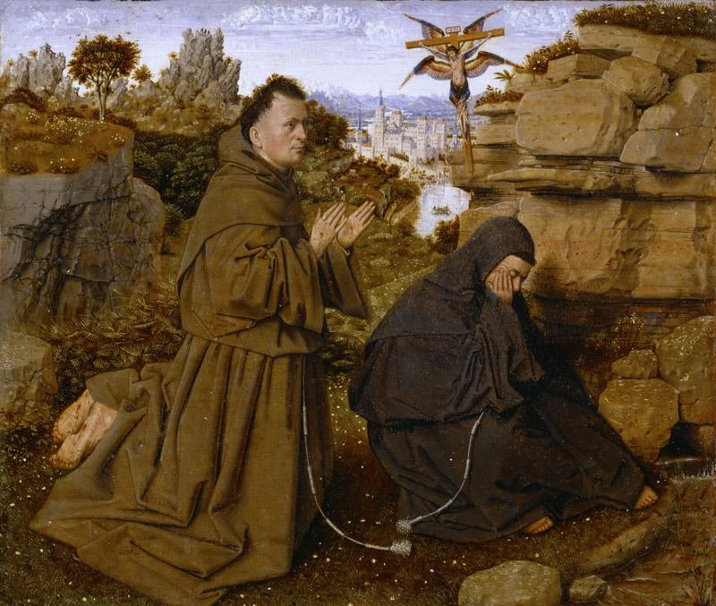 Attributed to Jan van Eyck, Netherlandish (active Bruges), first documented 1422, died 1441 -- Saint Francis of Assisi Receiving the Stigmata