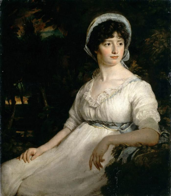 Attributed to John Opie -- The Woman in White