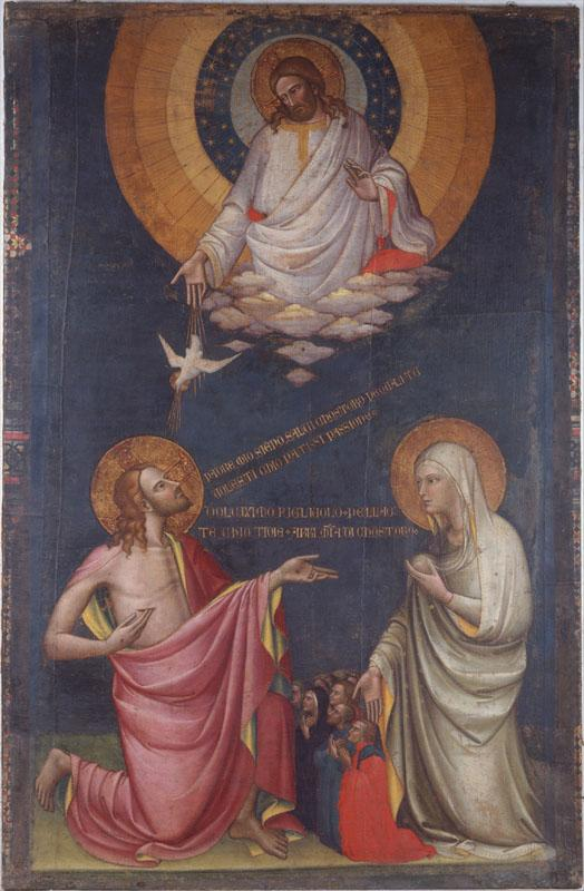 Attributed to Lorenzo Monaco--The Intercession of Christ and the Virgin