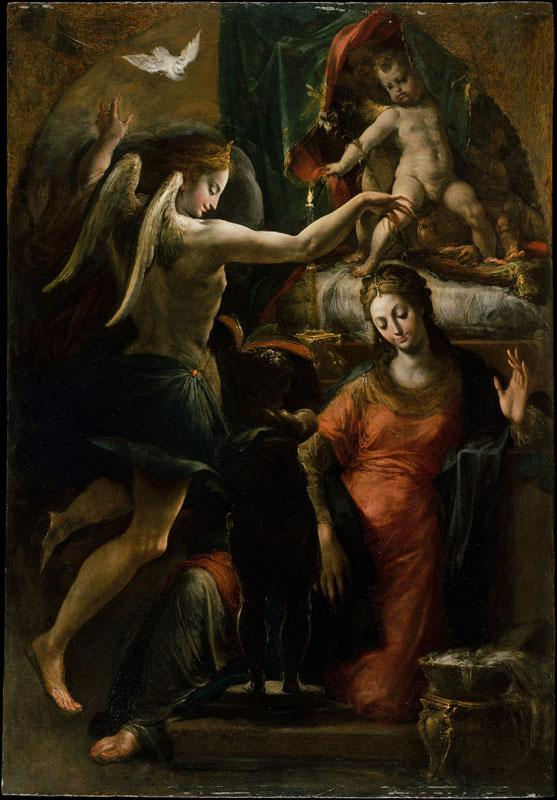 Attributed to Parmigianino--The Annunciation