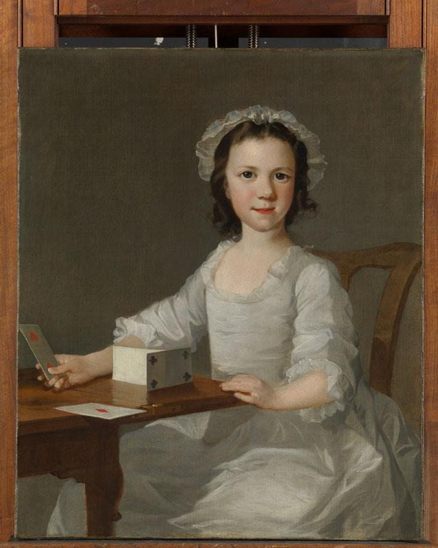 Attributed to Thomas Frye--Girl Building a House of Cards