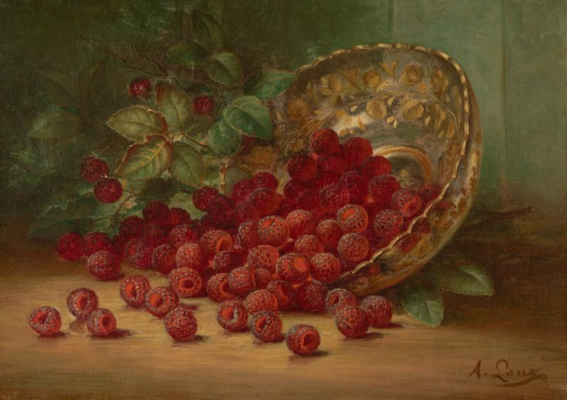 August Laux - Raspberries, ca. 1880