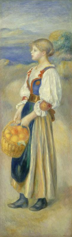Auguste Renoir - Girl with a Basket of Oranges